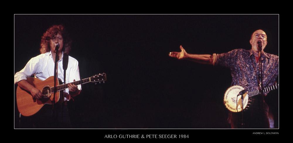 PETE SEEGER & ARLO GUTHRIE DEC 1984