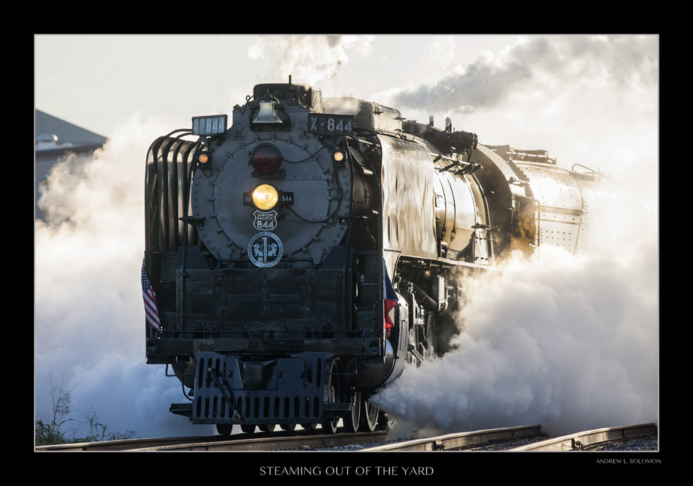 STEAMING OUT OF THE YARD