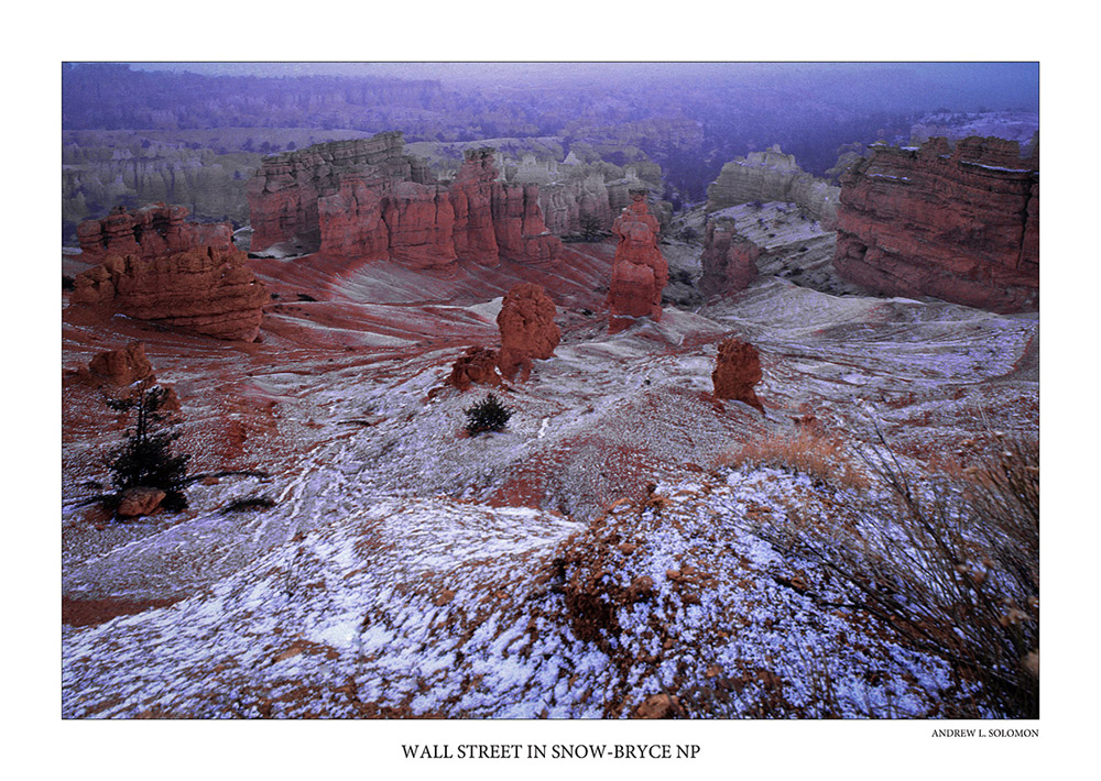 WALL STREET IN SNOW-BRYCE NP